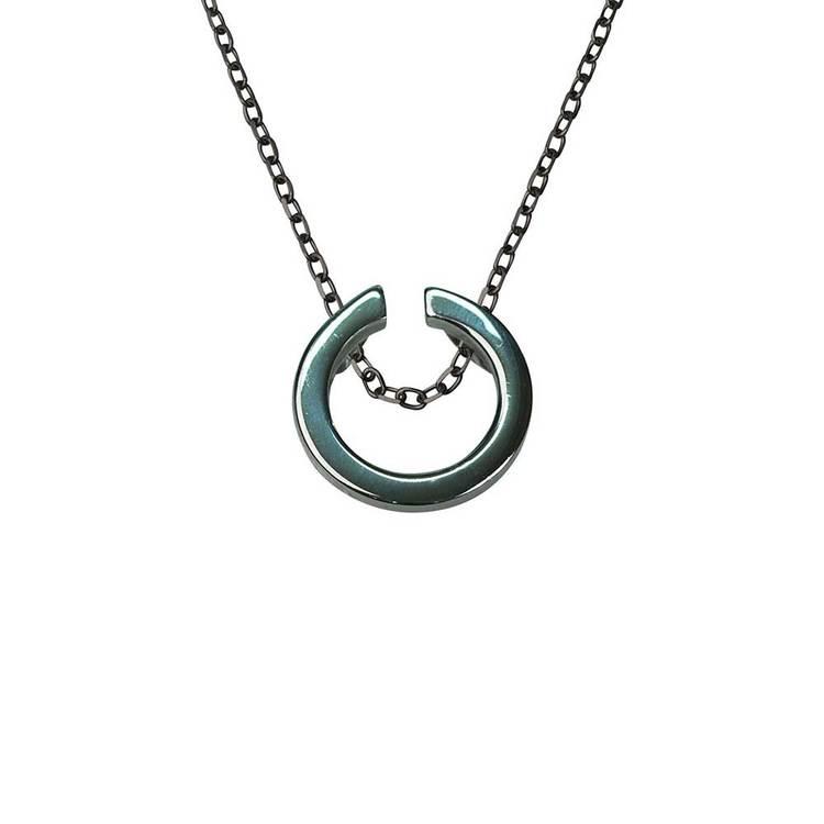 Halsband i 925 silver [BLACK]