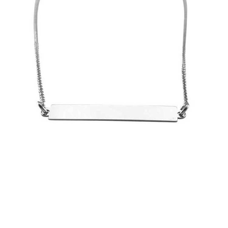 Halsband [ID-bricka] i rhodinerat 925 sterlingsilver