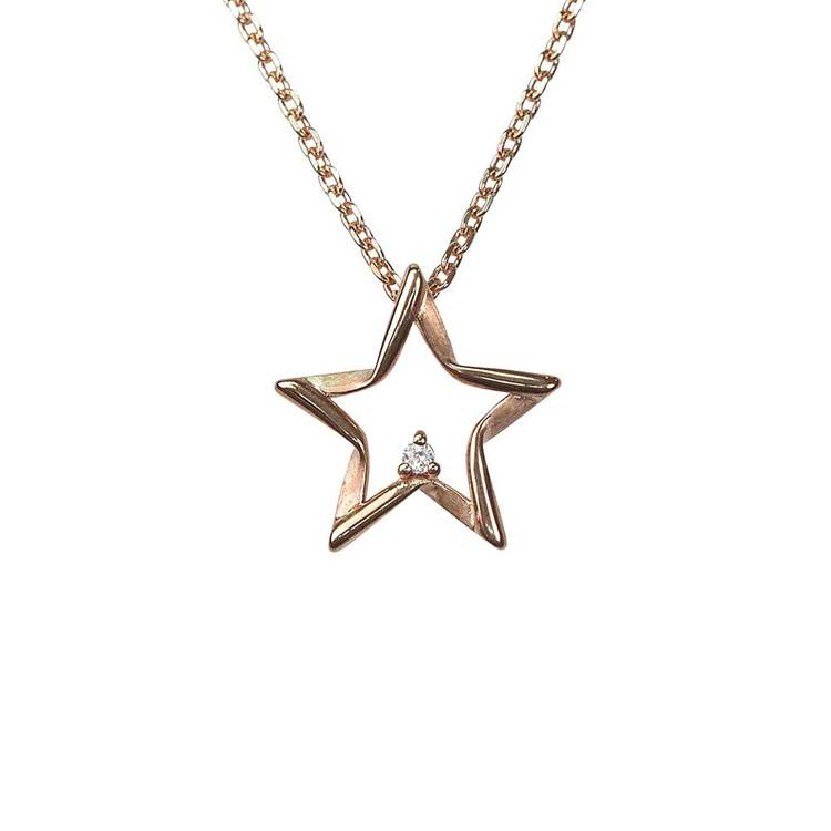 Halsband Sparkling Stars Pink Gold Silver