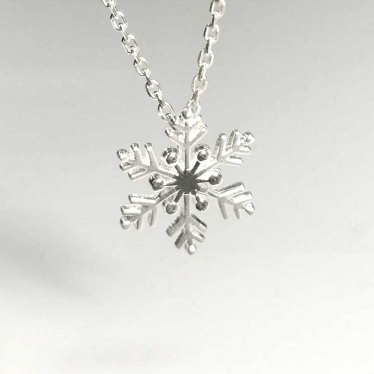 NECKLACE SNOWFLAKE STERLINGSILVER