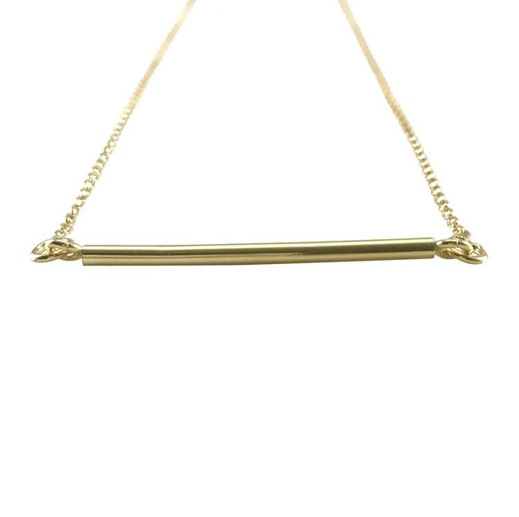 Halsband [Rak stav] i 925 sterlingsilver- Gold