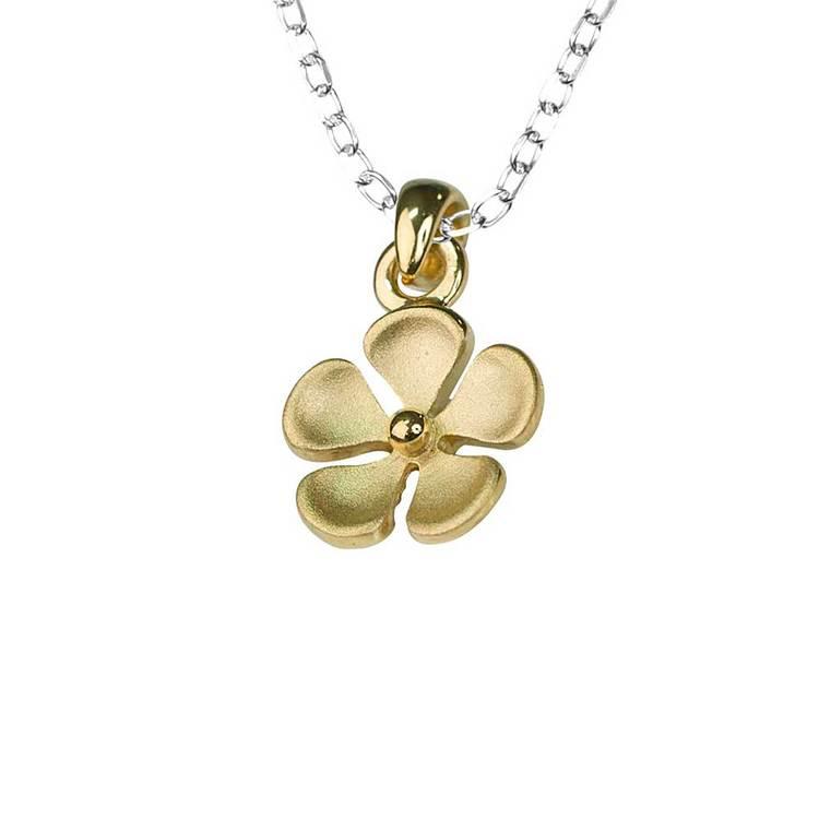 Halsband [FLOWER] guldpläterad i 925 silver