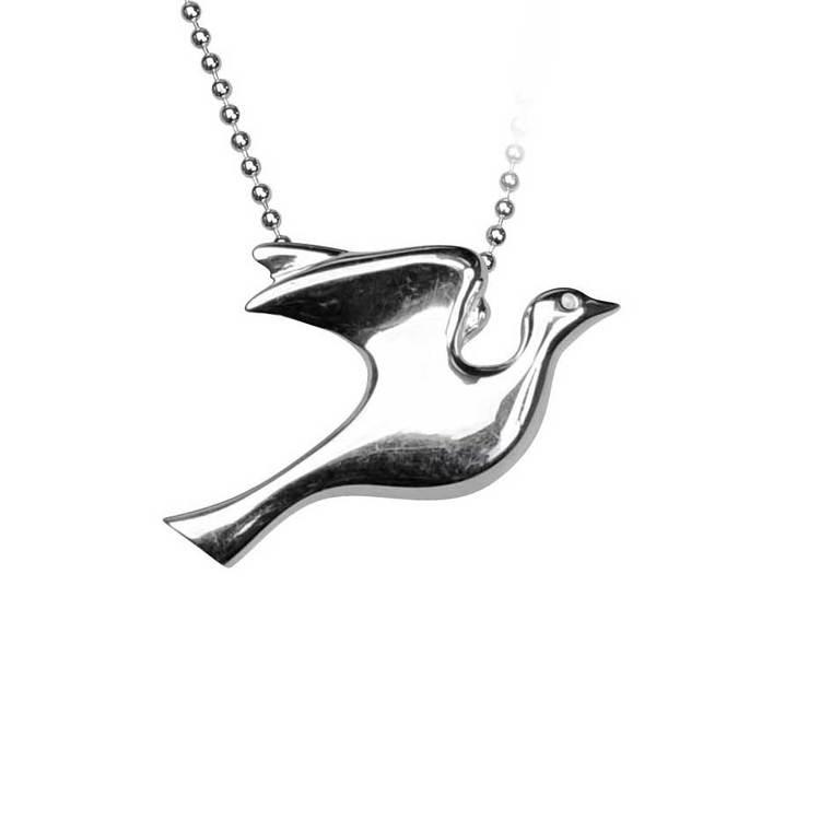 Halsband [DOVE] i 925 silver
