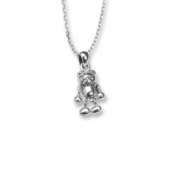 Halsband [NALLE] i 925 rhodinerat silver