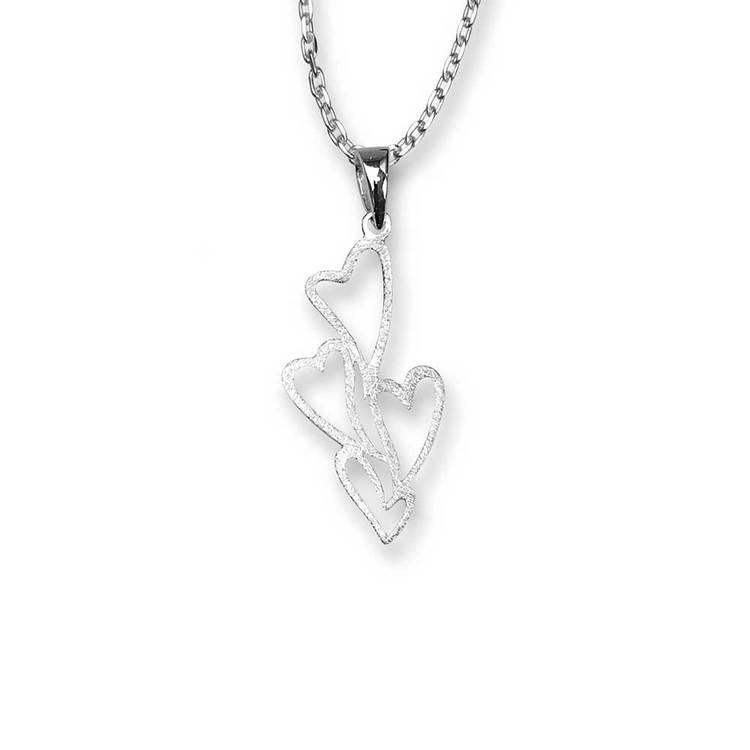 Halsband Heart i 925 silver