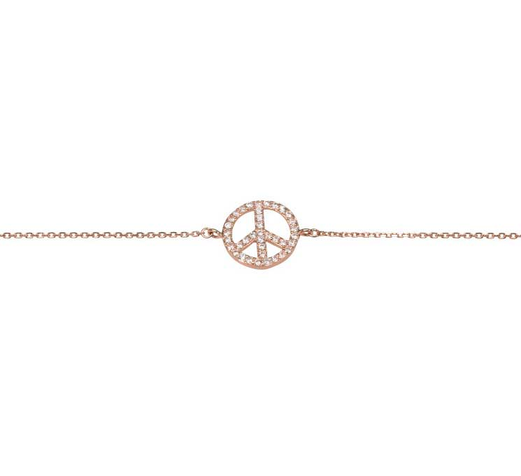 Snyggt peace armband från Catwalk Jewellery
