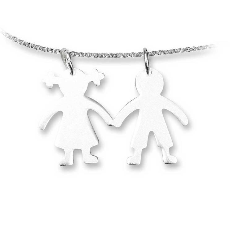 Gravyrbricka [Flicka/Pojke] i 925 silver