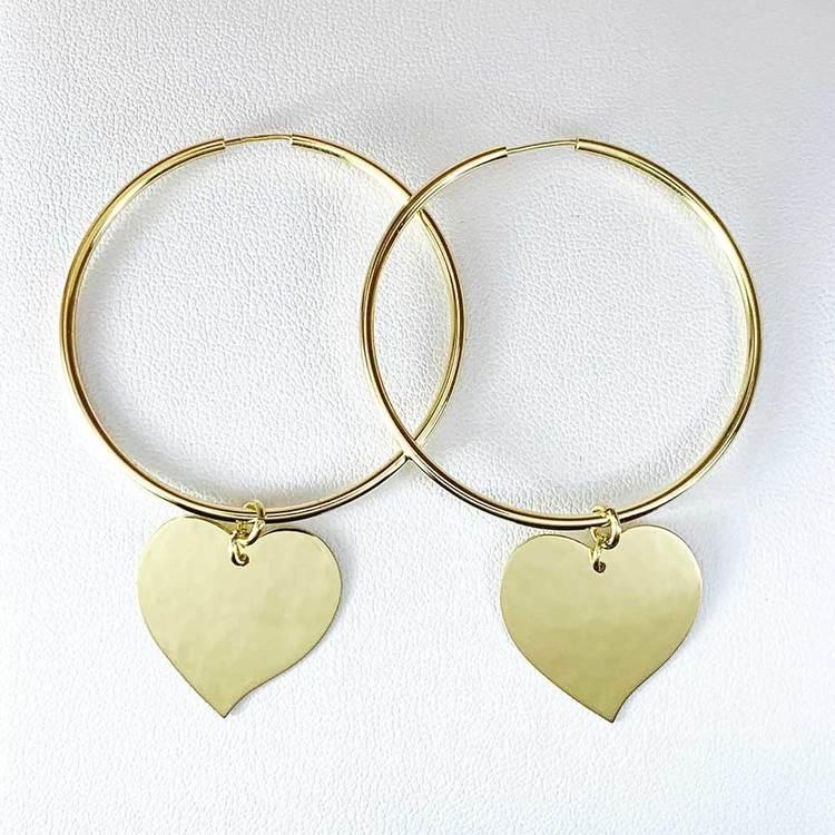 Creoler [HEART] i förgyllt 925 silver
