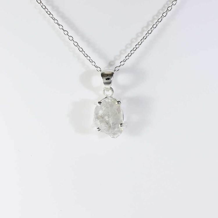"Halsband med ""Herkimer""-ädelsten - 40+5 cm extension"