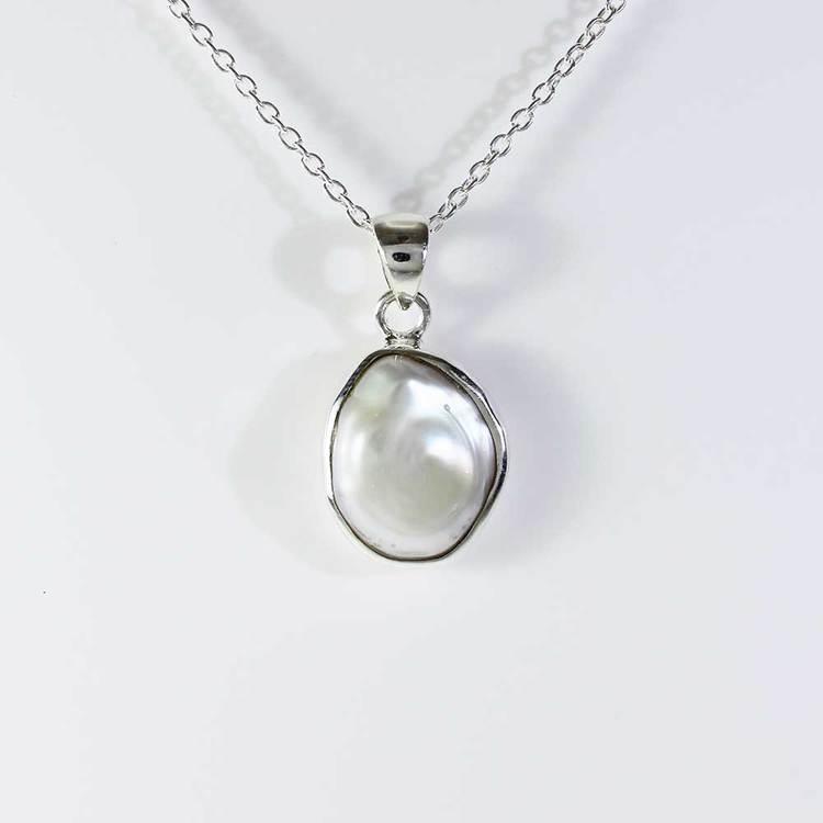 Halsband - Äkta pärla - 40+5 cm extension