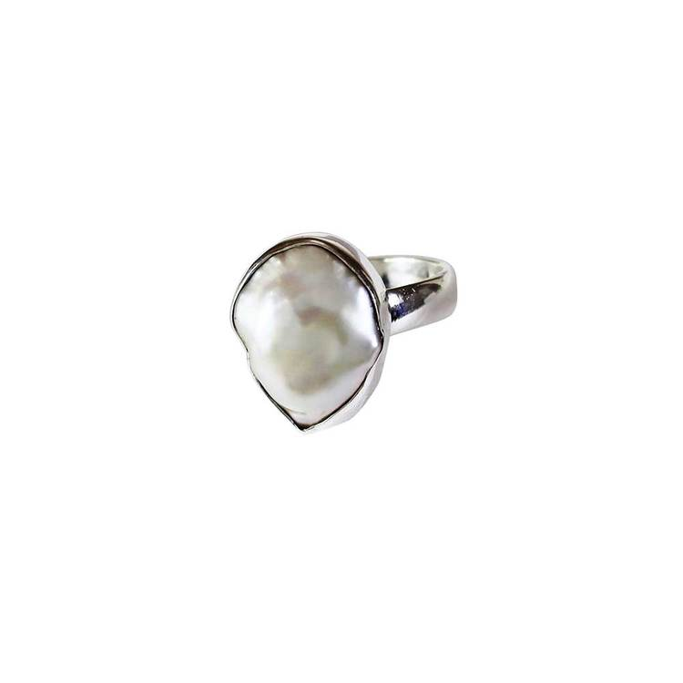 Ring med äkta pärla i 925 silver