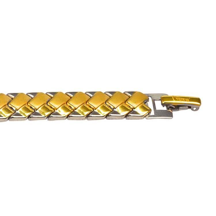 Tvåfärgat armband i steel