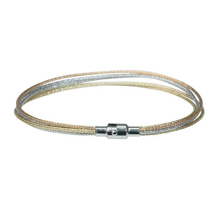 Trefärgat armband i stål