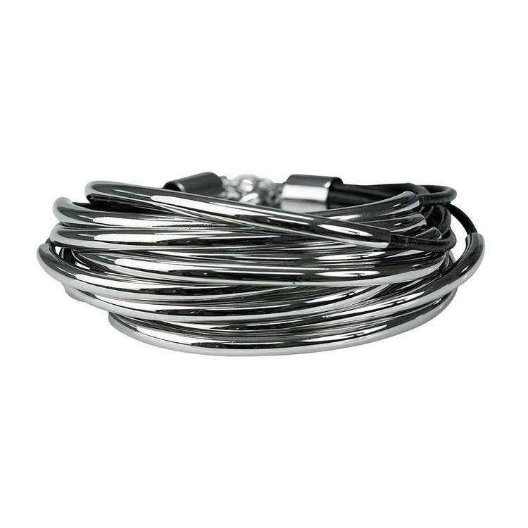 Armband i stål/läder