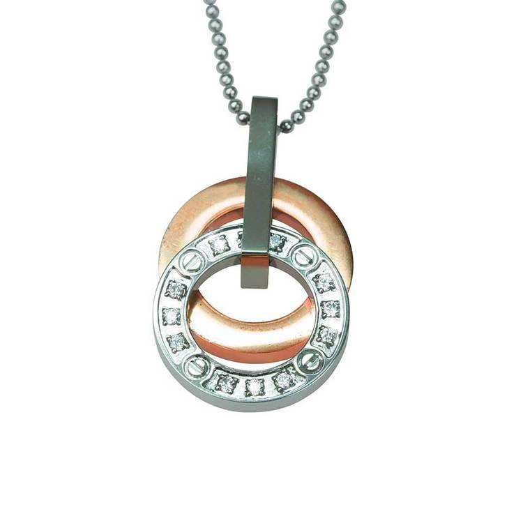 Halsband [PINK GOLD/STEEL]