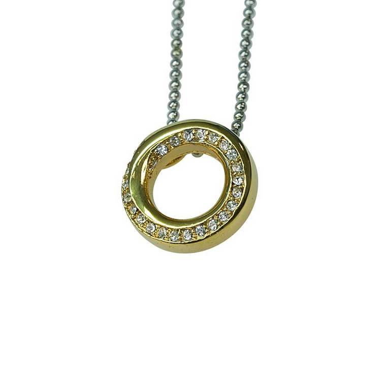 Halsband [GOLD CIRCLE] med cz-stenar