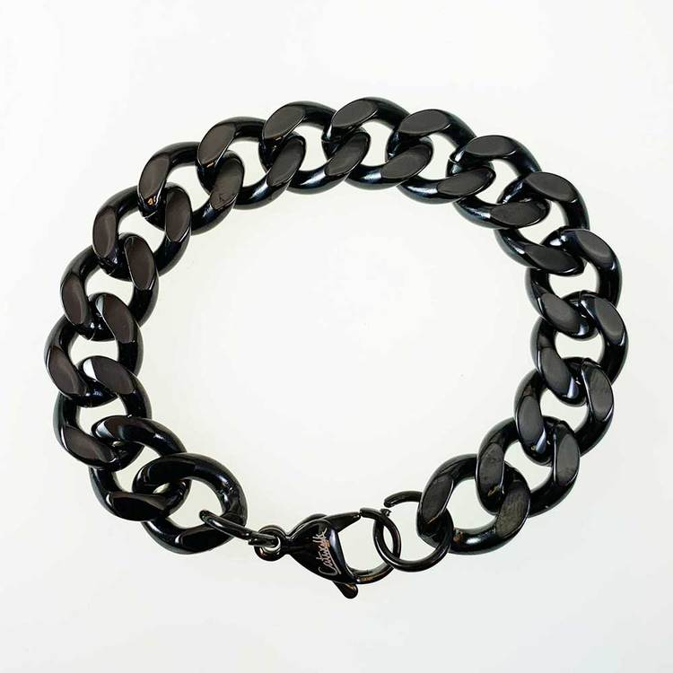 Pansararmband i black steel - 13 mm