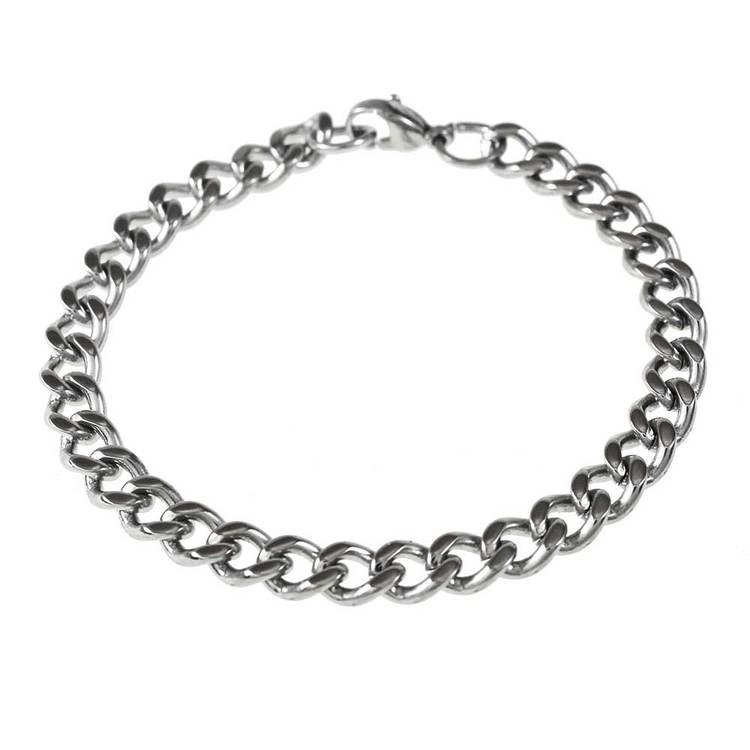 Pansararmband steel 6 mm från Catwalk Jewellery