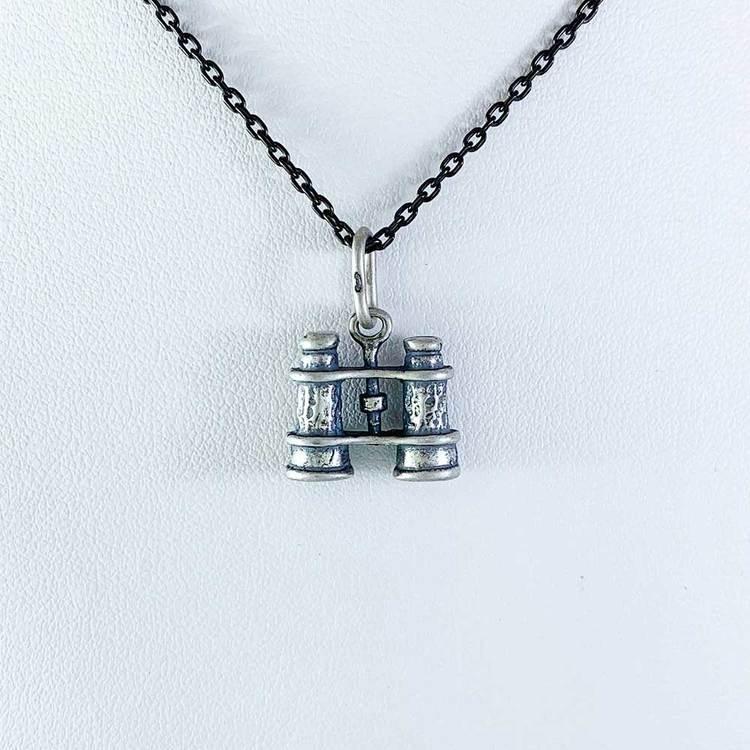 Hänge [BINOCULARS] i oxiderat 925 silver