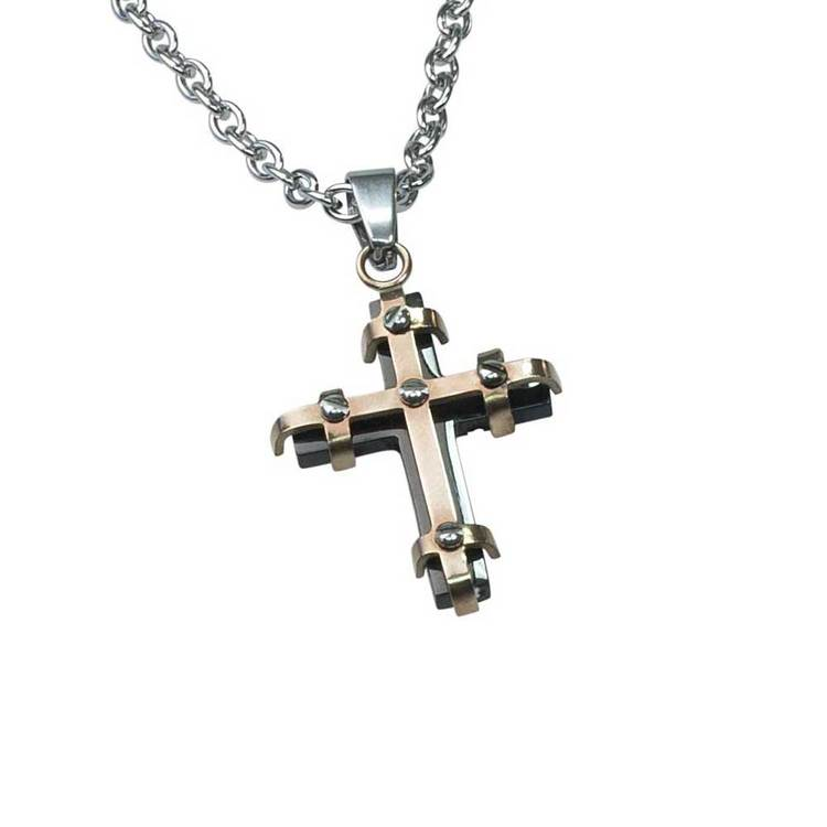 Kors i steel med steelkedja - 50 cm