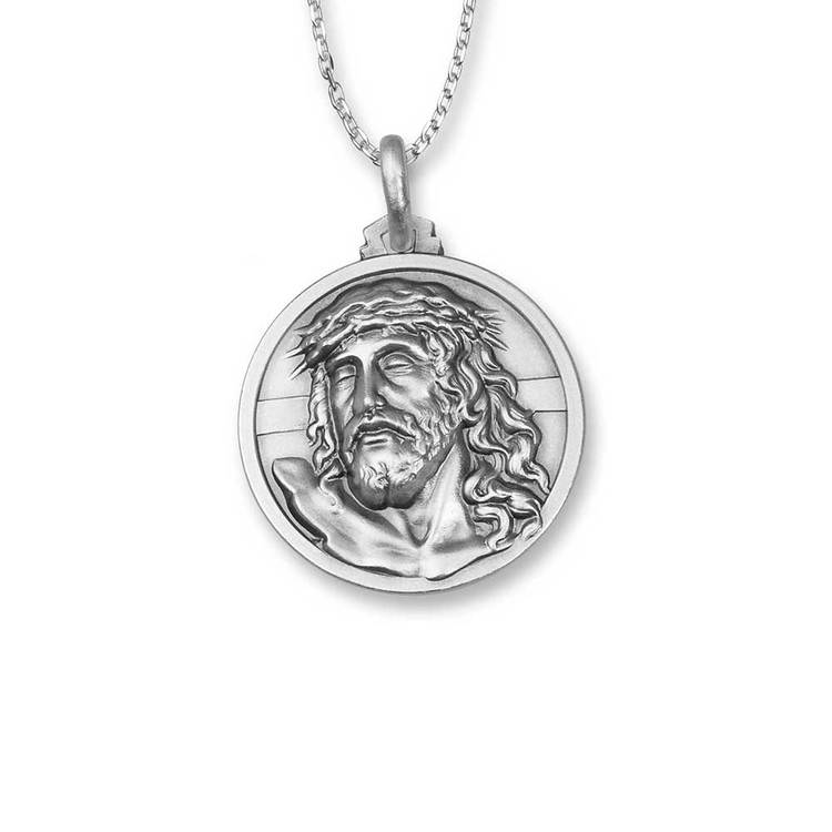 Halsband [JESUS] i 925 rhodinerat silver
