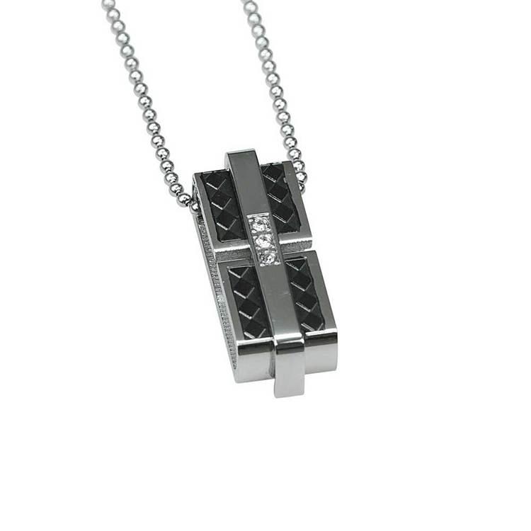 Hänge i steel med steelkedja - 50 cm