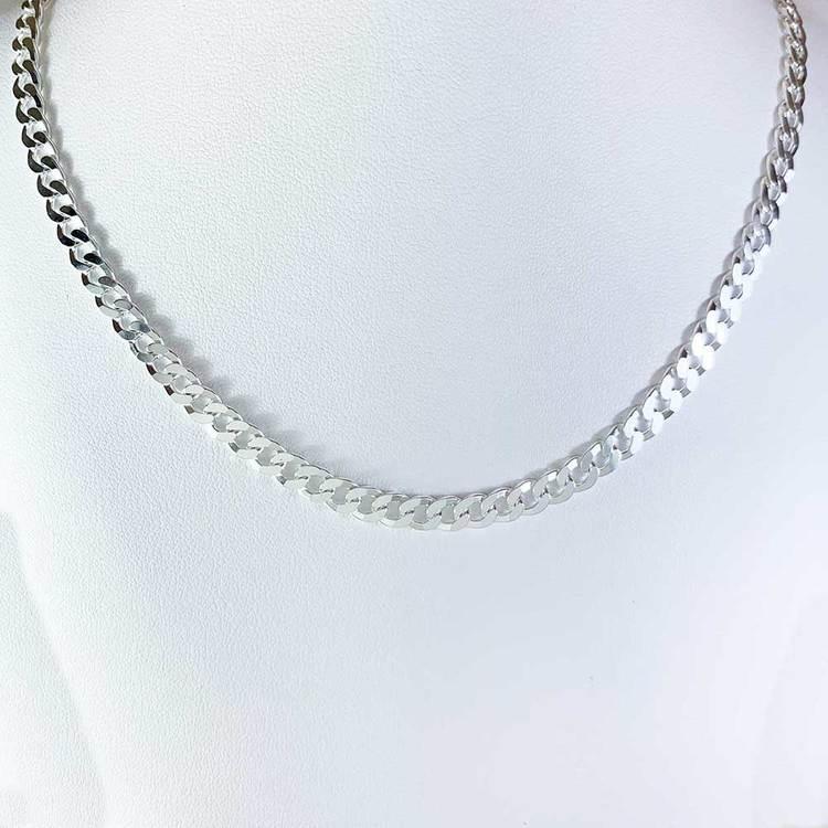 Pansarhalsband i 925 silver - 5 mm