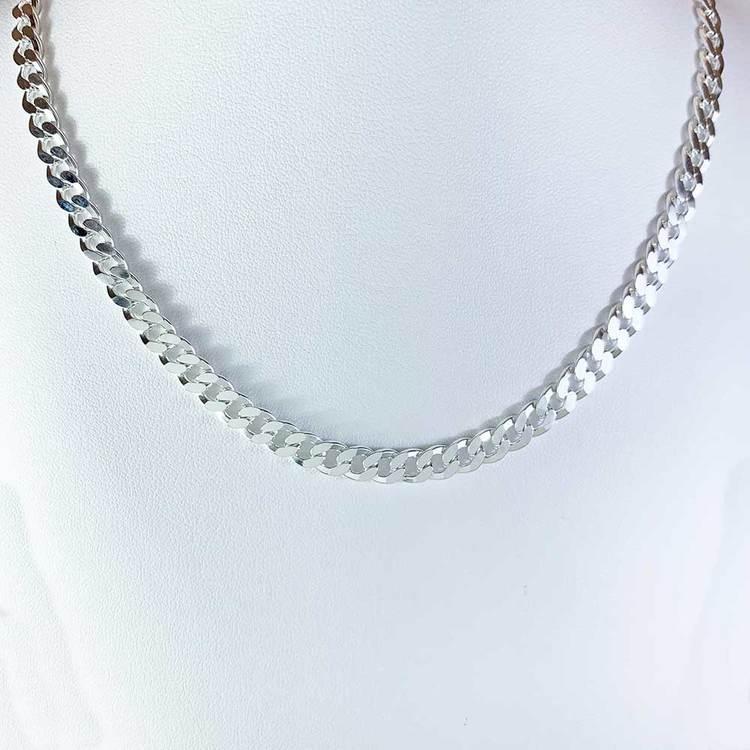 Pansarhalsband i 925 silver - 5,7 mm