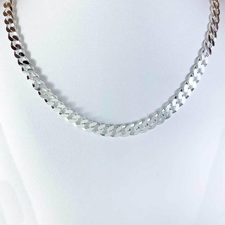 Pansarhalsband i 925 silver - 7 mm