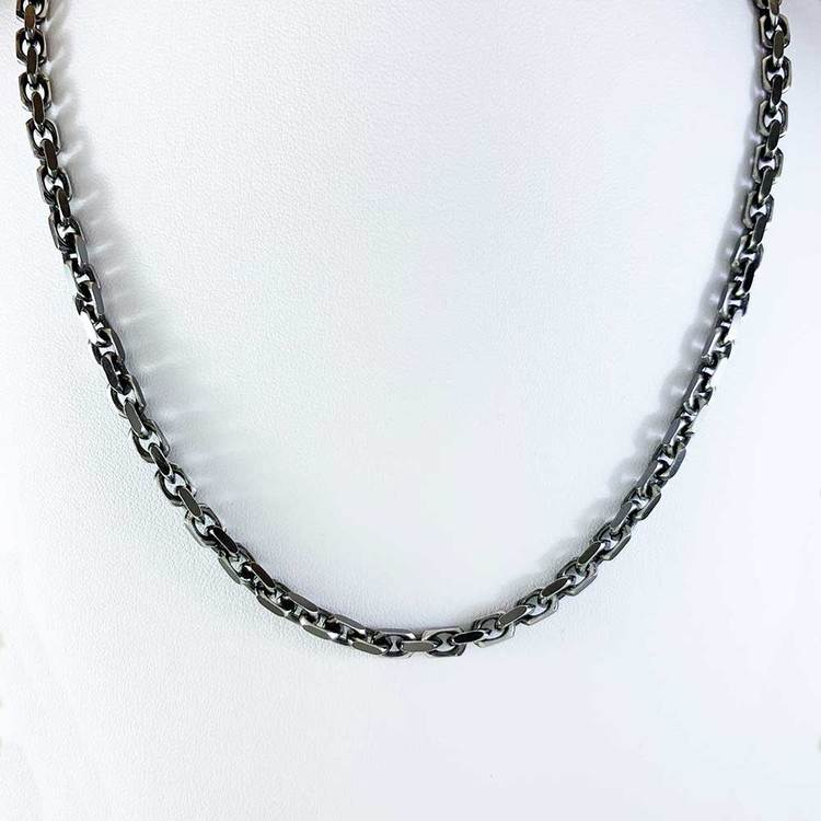 Ankarhalsband i oxiderat 925 silver - 4,2 mm