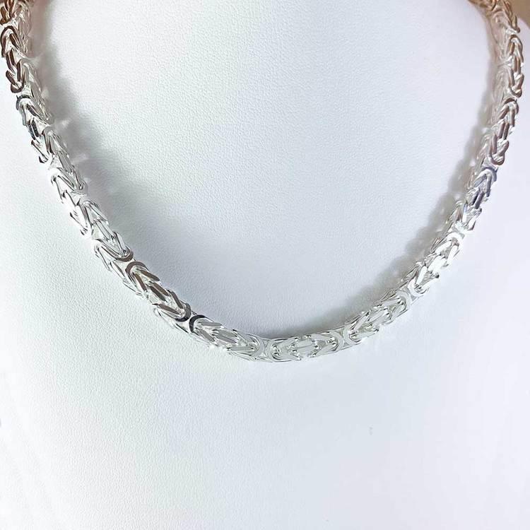 Massiv fyrkantig kejsarlänk - Halsband 5 mm