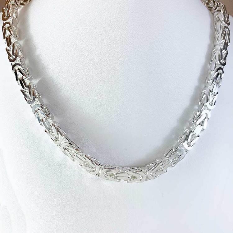 Massiv fyrkantig kejsarlänk - Halsband 6,5 mm