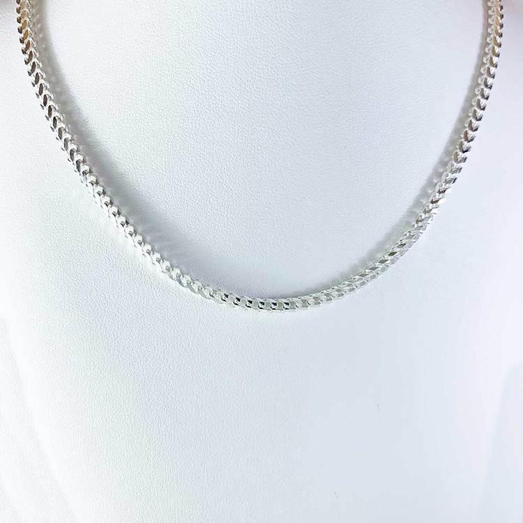 Francolänk slipad åtta sidor i 925 silver - Halsband