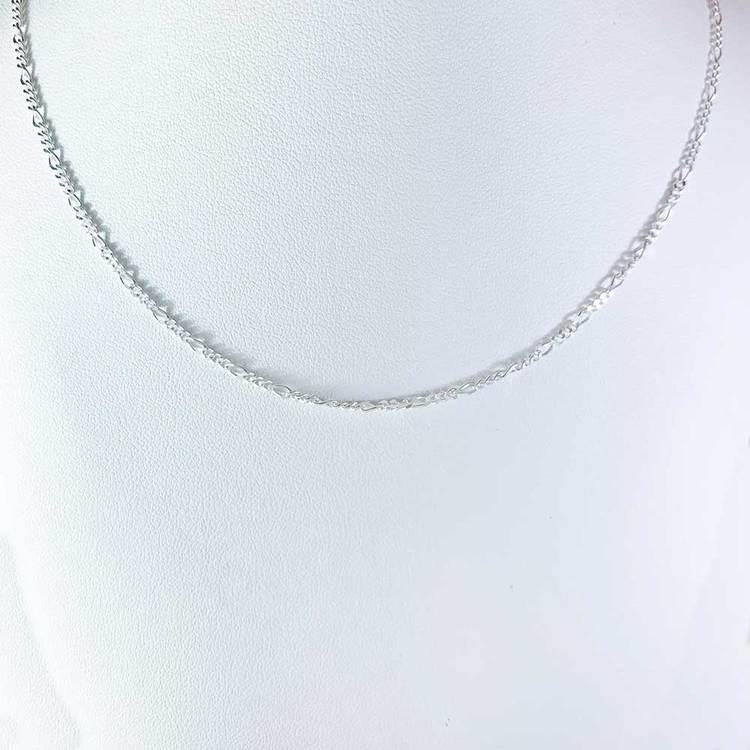 Figarohalsband 50 cm i 925 silver - 1,9 mm