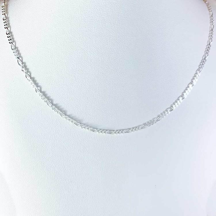 Figarohalsband 50 cm i 925 silver - 2,2 mm