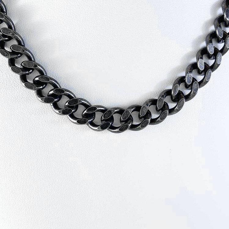 Halsband Pansar antic oxide steel - 9,75 mm