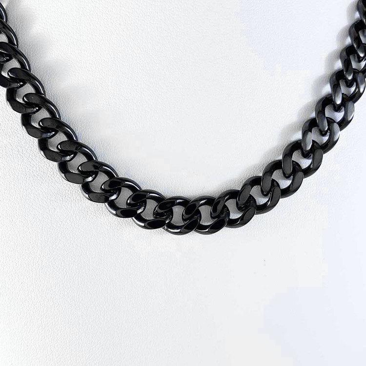 Halsband Pansar i black steel - 9,75 mm