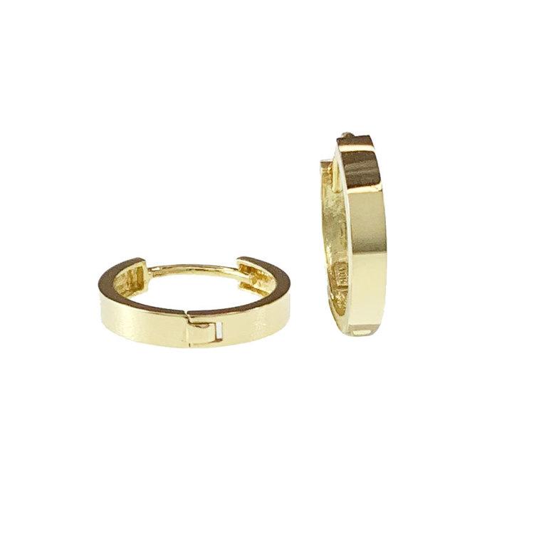 Creoler 18K guld - 12,8 x 2,3 mm