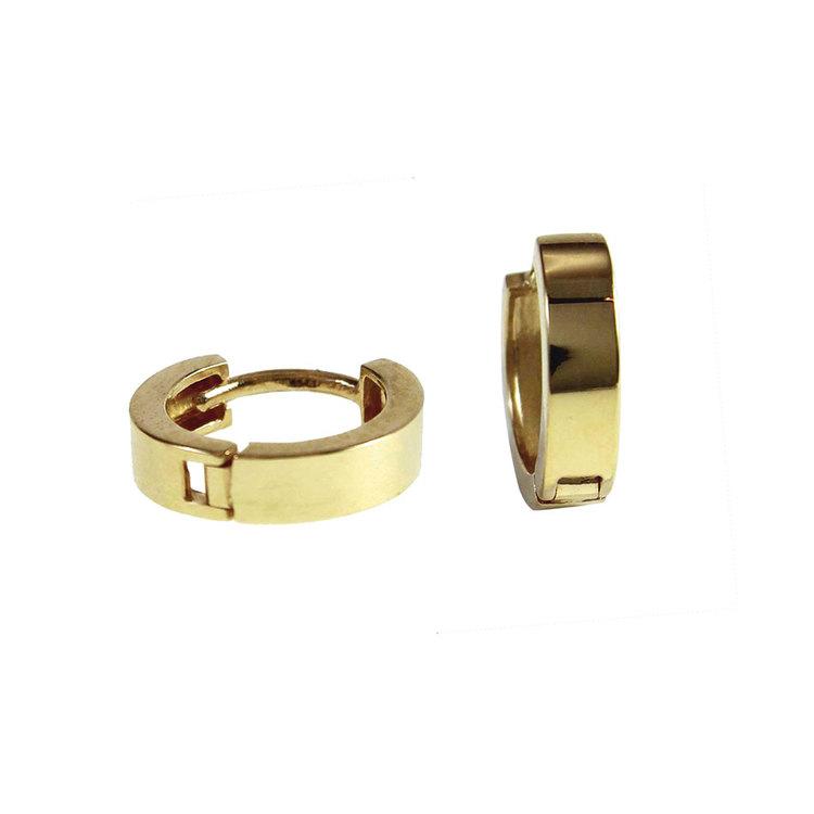 Creoler 18K guld - 11 x 2,8 mm