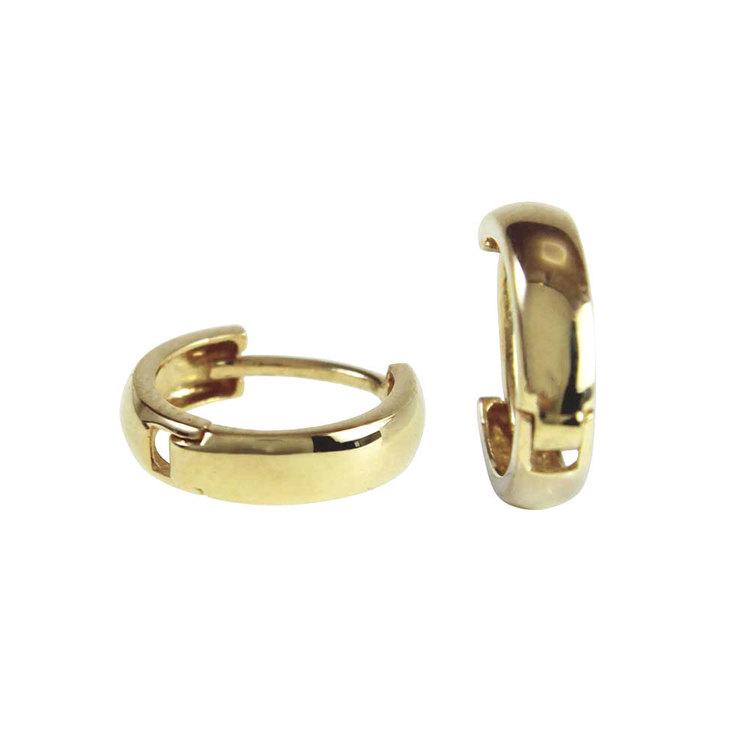Creoler 18K guld - 12 x 3 mm