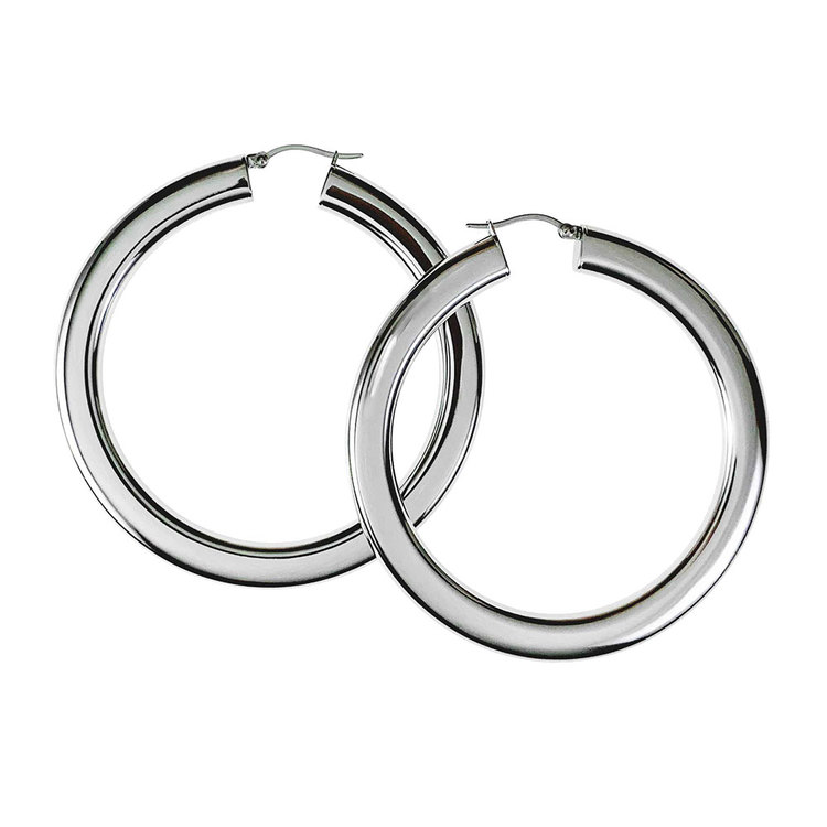 Steel Hoops örhängen från Catwalk Jewellery