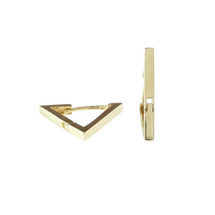 Vackra creoler Triangle i 18K guld från Catwalk Jewellery