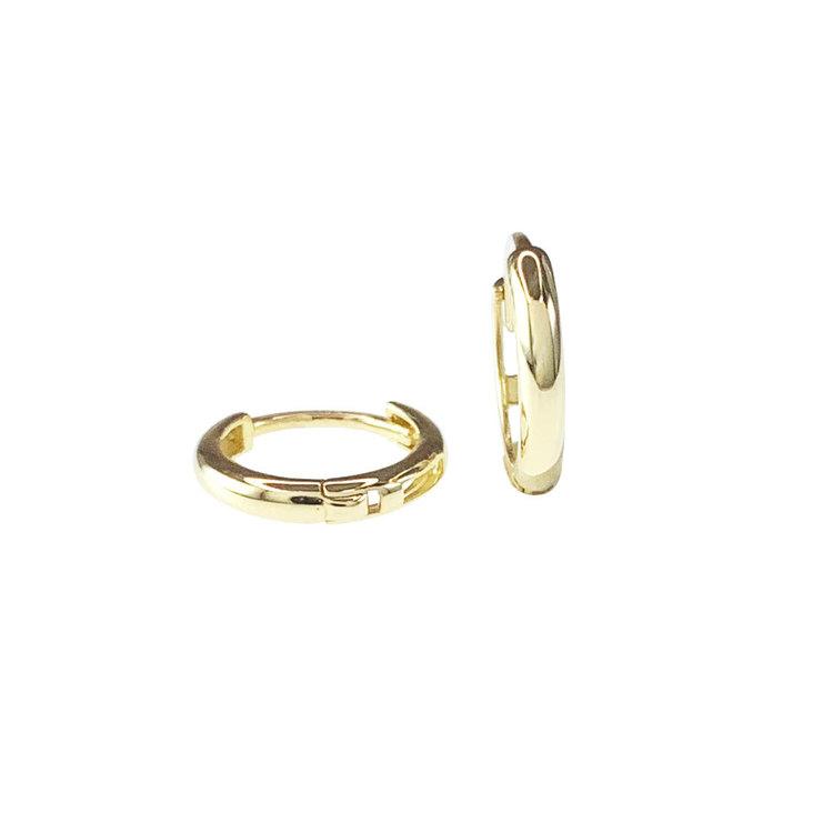 Creoler 18K guld - 10,4 x 1,7 mm