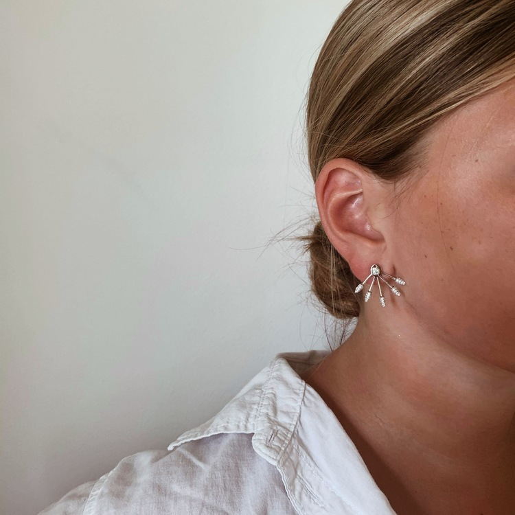 snygga örhängen sparkling lines i silver från Catwalk Jewellery