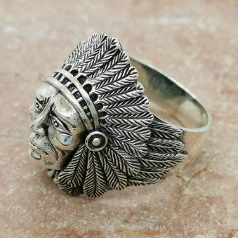 cool ring indian oxiderat silver från Catwalk Jewellery