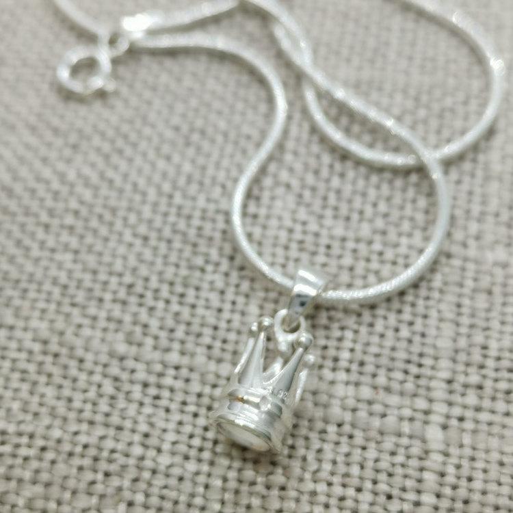 Halsband Crown Silver