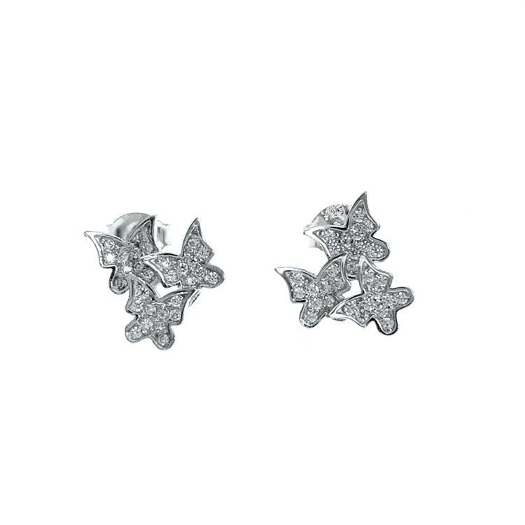 silverörhängen fjärilsörhängen från Catwalk Jewellery