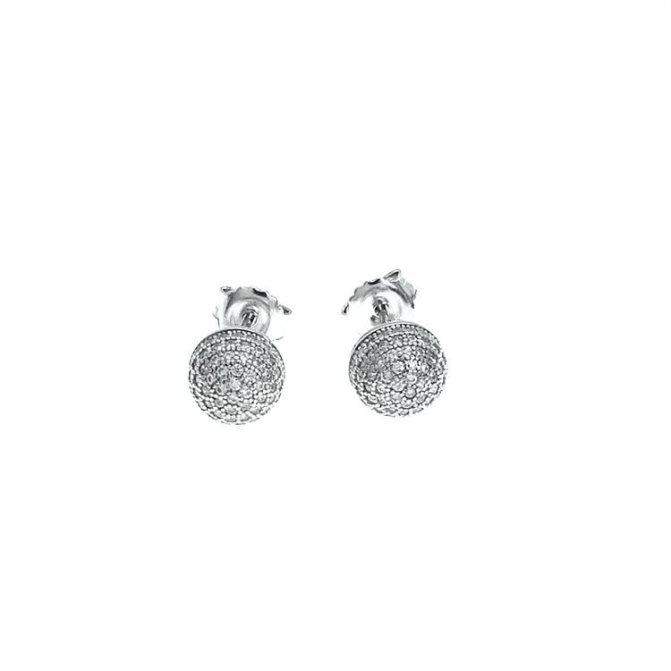 vackra runda örhängen i silver från catwalk Jewellery