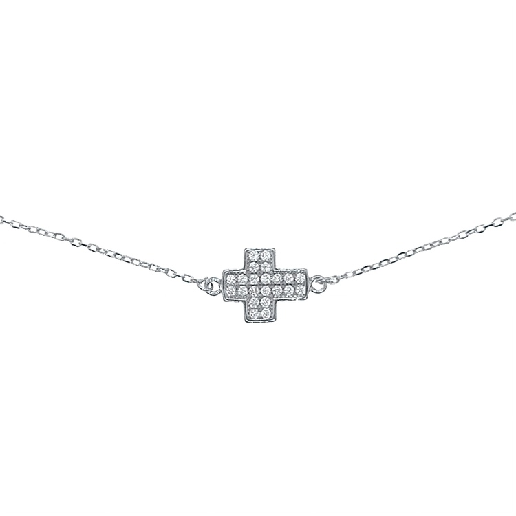 Armband Sparkling Cross Silver
