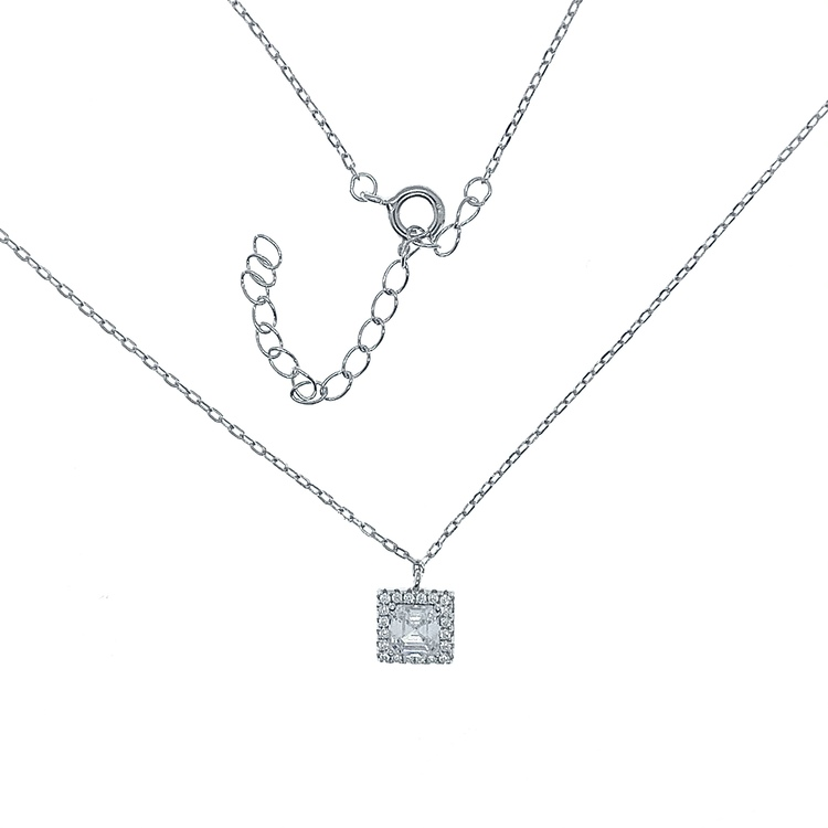 Halsband Sparkling Square Silver
